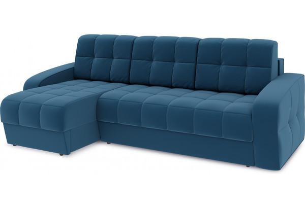 Диван угловой левый «Аспен Т1» Beauty 07 (велюр) синий - фото 1