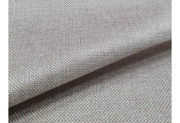 Прямой диван Сатурн бежевый/коричневый (Рогожка/Экокожа) - фото 8