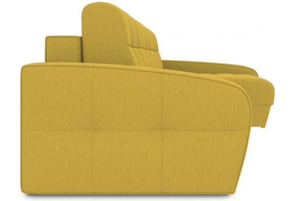 Диван угловой правый «Аспен Т2» (Poseidon Curcuma (иск.замша) желтый) - фото 3
