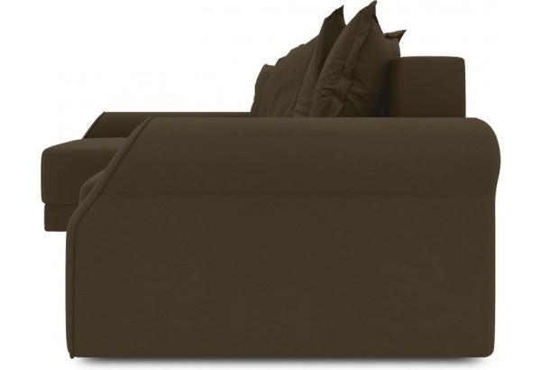 Диван угловой левый «Люксор Т2» Beauty 04 (велюр) коричневый - фото 3