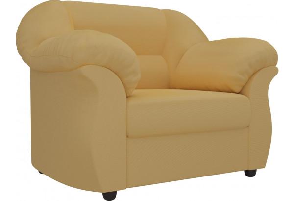 Кресло Карнелла Желтый (Микровельвет) - фото 1