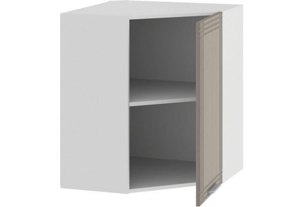 Шкаф навесной угловой «Ольга» (Белый/Кремовый) - фото 2