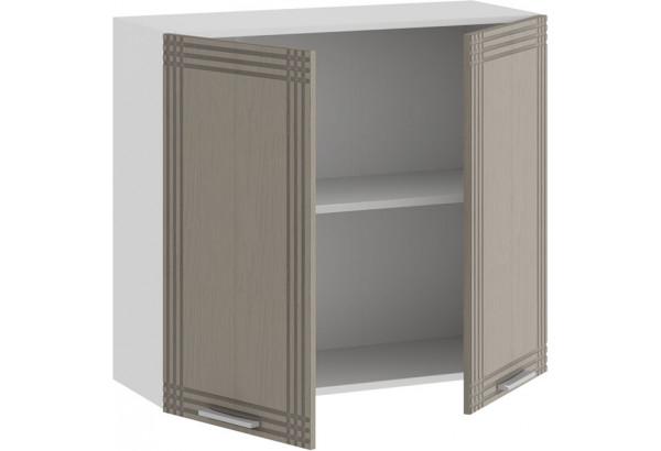 Шкаф навесной c двумя дверями «Ольга» (Белый/Кремовый) - фото 2
