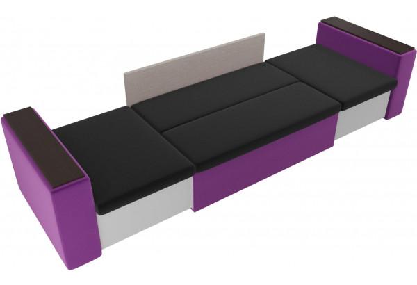 Детский диван Арси черный/фиолетовый (Микровельвет) - фото 5
