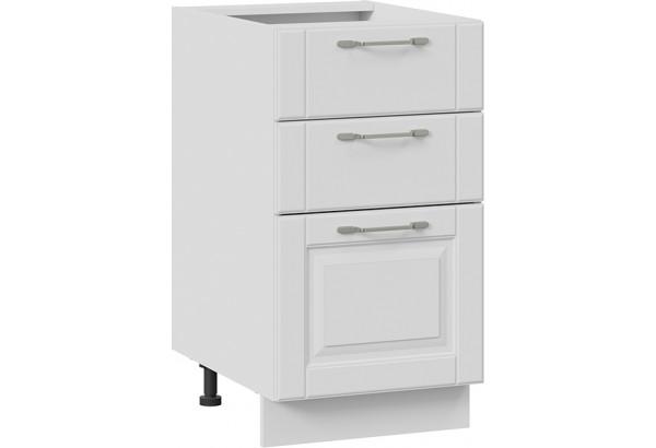 Шкаф напольный с 3-мя ящиками (СКАЙ (Белоснежный софт)) - фото 1