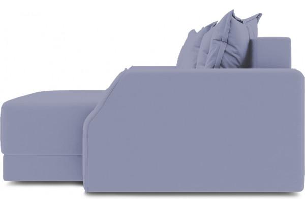 Диван угловой правый «Люксор Slim Т1» (Poseidon Blue Graphite (иск.замша) серо-фиолетовый) - фото 5