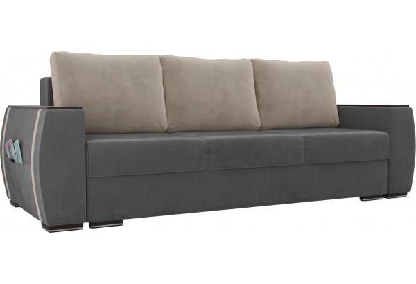Прямой диван Брион Серый (Велюр) - фото 1