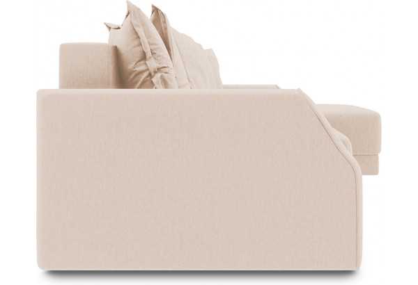 Диван угловой правый «Люксор Slim Т1» (Kolibri Cream (велюр) кремовый) - фото 3