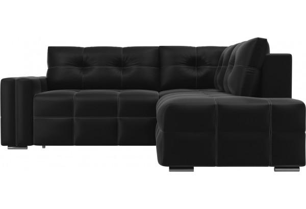 Угловой диван Леос Черный (Экокожа) - фото 2