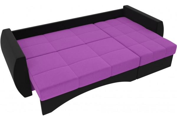 Угловой диван Сатурн Фиолетовый/Черный (Микровельвет) - фото 6