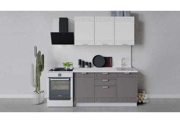 Кухонный гарнитур «Долорес» длиной 150 см (Белый/Сноу/Муссон) - фото 1