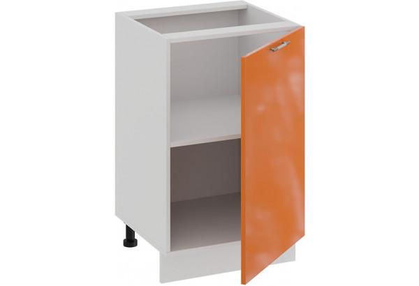 Шкаф напольный с одной дверью «Весна» (Белый/Оранж глянец) - фото 2