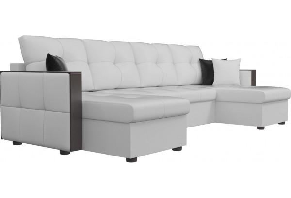 П-образный диван Валенсия Белый (Экокожа) - фото 4