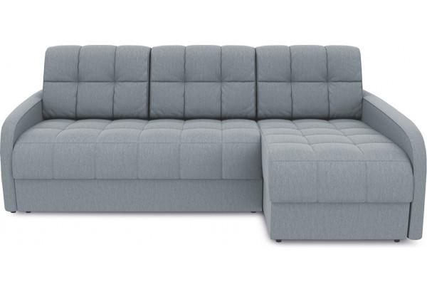 Диван угловой правый «Аспен Slim Т2» (Kolibri Silver (велюр) серый) - фото 2