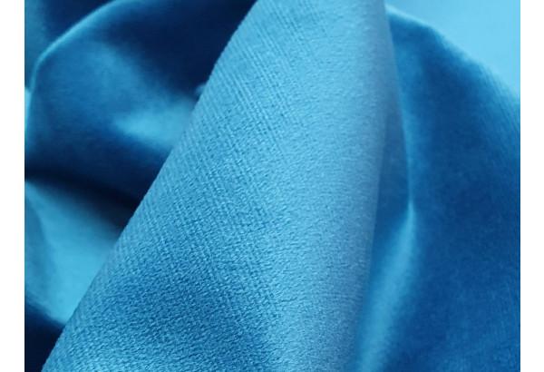 Диван прямой Карнелла голубой/черный (Велюр/Экокожа) - фото 6
