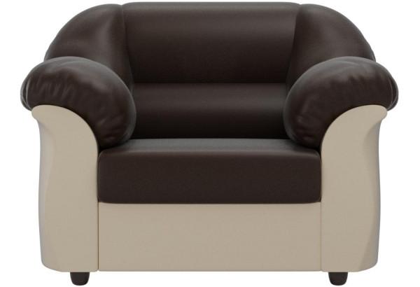 Кресло Карнелла Коричневый/Бежевый (Экокожа) - фото 2