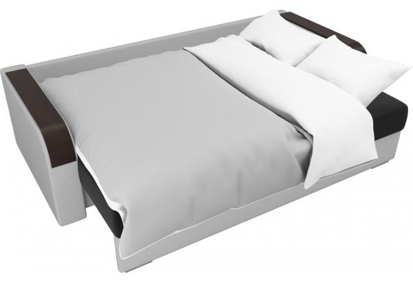 Прямой диван Мейсон Черный/Белый (Микровельвет/Экокожа) - фото 7