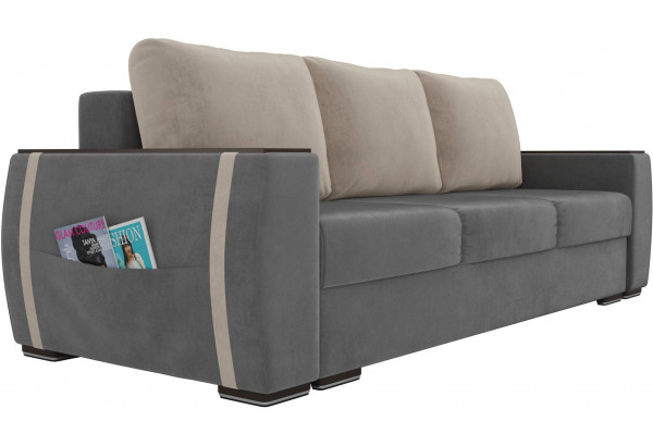 Прямой диван Брион Серый (Велюр) - фото 3