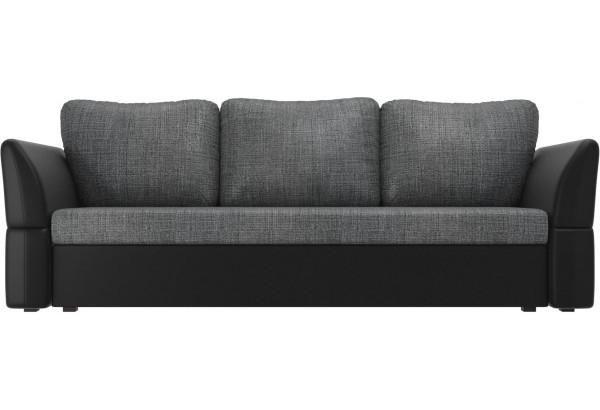Диван прямой Гесен Серый/черный (Рогожка/Экокожа) - фото 2