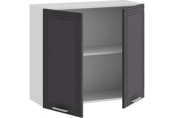 Шкаф навесной c двумя дверями «Ольга» (Белый/Графит) - фото 2