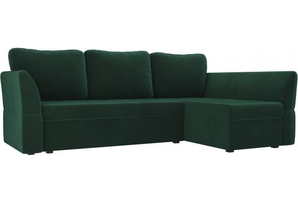 Угловой диван Гесен Зеленый (Велюр) - фото 1
