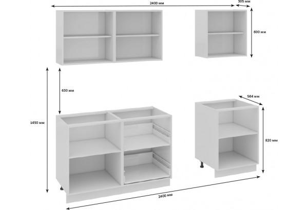 Кухонный гарнитур длиной - 240 см Фэнтези (Белый универс)/(Грасс) - фото 3