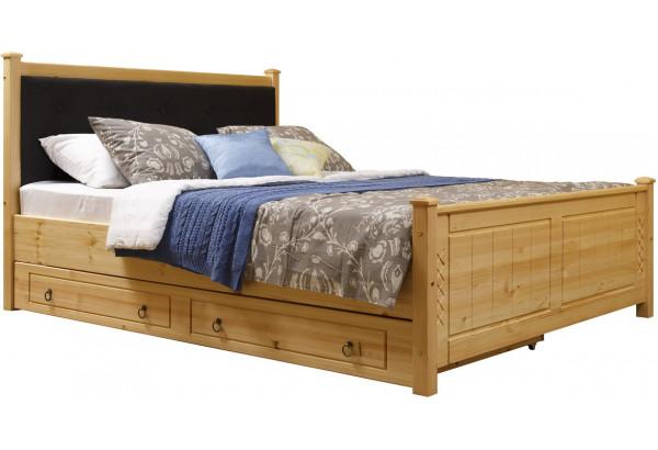 Кровать мягкая 1 с ящиками - фото 2