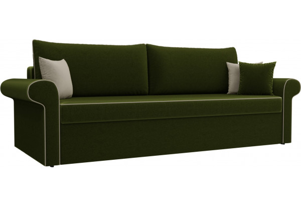 Диван прямой Милфорд Зеленый (Микровельвет) - фото 1
