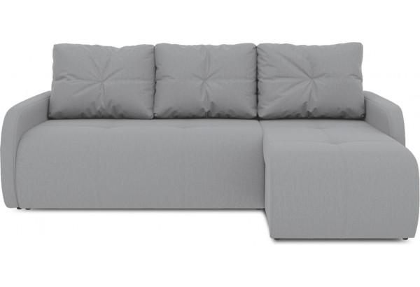 Диван угловой правый «Томас Slim Т1» (Poseidon Grey (иск.замша) серый) - фото 2