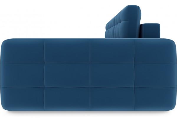 Диван угловой правый «Райс Т2» Beauty 07 (велюр) синий - фото 4