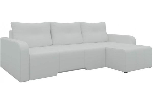 Угловой диван Манхеттен Белый (Экокожа) - фото 1