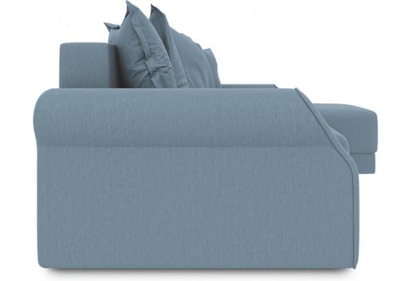 Диван угловой правый «Люксор Т1» (Poseidon Ocean (иск.замша) серо-голубой) - фото 3