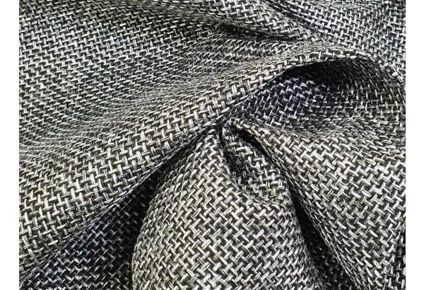 П-образный диван Дубай Серый/черный (Рогожка/Экокожа) - фото 6