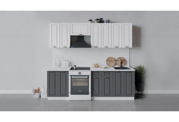 Кухонный гарнитур «Лина» длиной 240 см (Белый/Белый/Графит) - фото 1