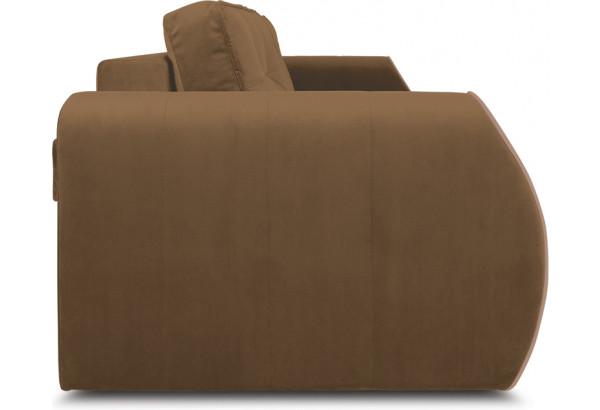 Диван «Хьюго» (Fenix Brown (микровелюр) Коричневый кант Fenix Koriza (микровелюр) Светло - коричневый) - фото 3