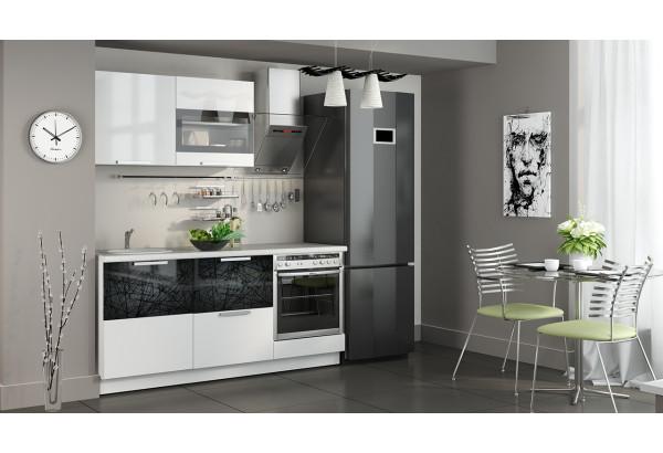 Кухонный гарнитур длиной - 180 см (со шкафом НБ) Фэнтези (Белый универс)/(Лайнс) - фото 2