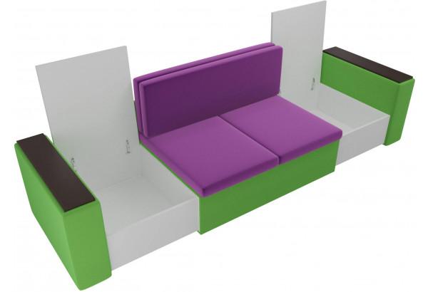 Детский диван Арси фиолетовый/зеленый (Микровельвет) - фото 6