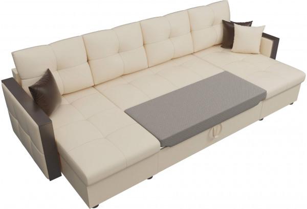 П-образный диван Валенсия Бежевый (Экокожа) - фото 6