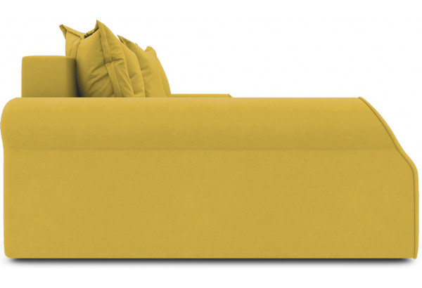 Диван угловой левый «Люксор Т2» (Poseidon Curcuma (иск.замша) желтый) - фото 5