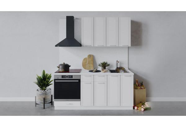 Кухонный гарнитур «Ольга» длиной 180 см со шкафом НБ (Белый/Белый) - фото 1