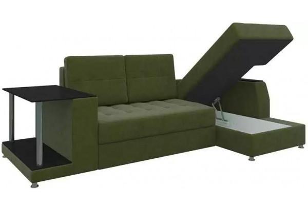 Угловой диван Атланта Зеленый (Микровельвет) - фото 3