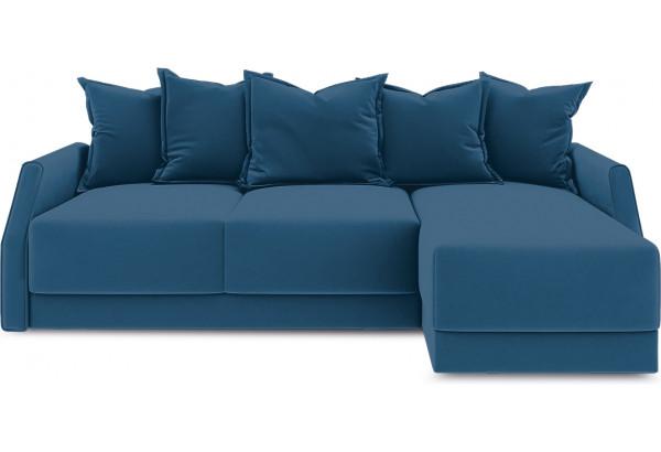 Диван угловой правый «Люксор Slim Т1» (Beauty 07 (велюр) синий) - фото 2