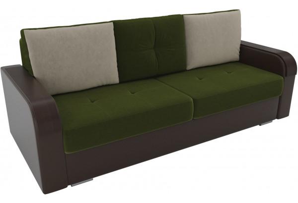 Прямой диван Мейсон зеленый/коричневый (Микровельвет/Экокожа) - фото 2