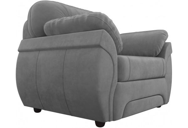 Кресло Бруклин Серый (Велюр) - фото 3