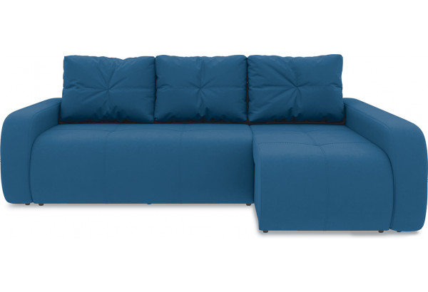 Диван угловой правый «Томас Т2» Beauty 07 (велюр) синий - фото 2