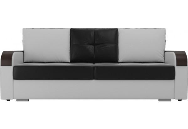Прямой диван Мейсон Черный/Белый (Экокожа) - фото 2