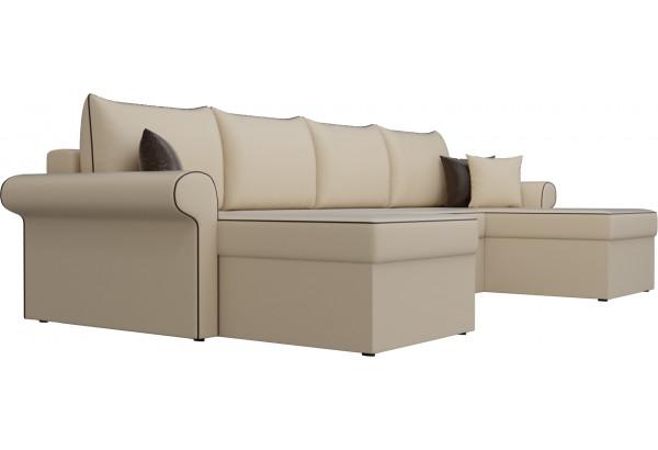 П-образный диван Милфорд Бежевый (Экокожа) - фото 3
