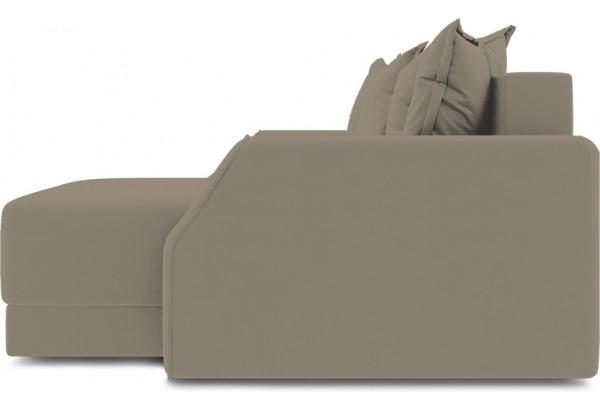 Диван угловой правый «Люксор Slim Т1» (Poseidon Mocco (иск.замша) светло-коричневый) - фото 5