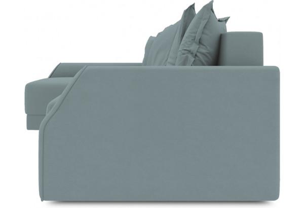 Диван угловой левый «Люксор Slim Т2» (Poseidon Lagoon (иск.замша) бледно-бирюзовый) - фото 3