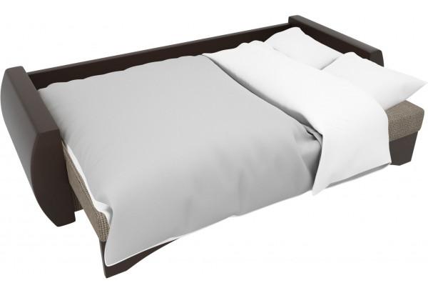 Прямой диван Сатурн коричневый/коричневый (Корфу/экокожа) - фото 7